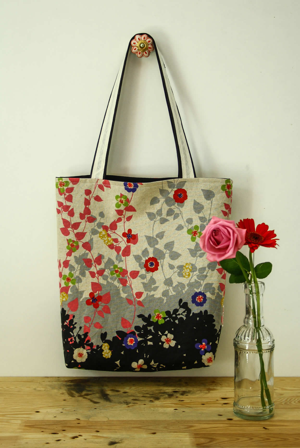 Tote bag sewing pattern | Happy in Red
