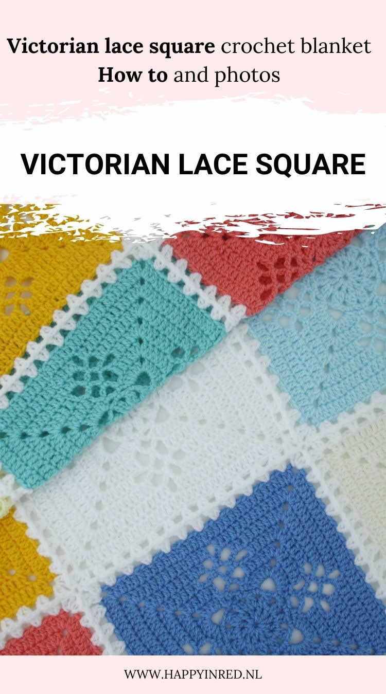 Victorian Lace Square Crochet Blanket | How to make a Victorian Lace Square Crochet Blanket | Happy in Red