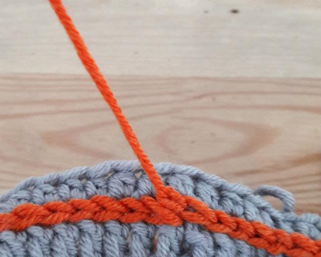 Men's hat crochet pattern, surface crochet tutorial | Happy in Red