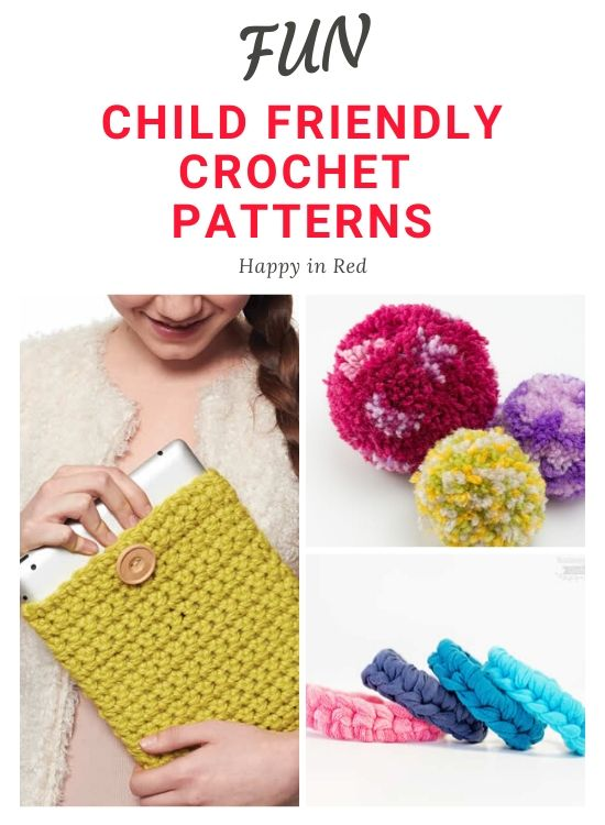 Child friendly crochet patterns: how to crochet with your kids | Happy in Red