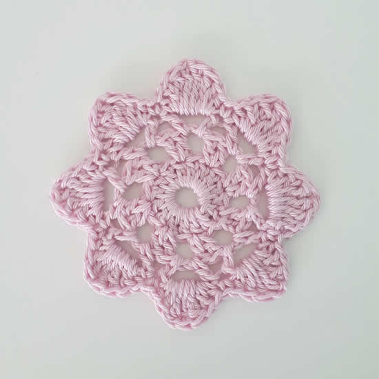 Crochet flower pattern, crochet pattern crochet flower, step 5 | Happy in Red