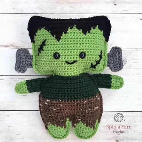 Crochet Frankenstein Monster, by Spin a Yarn Crochet | Happy in Red