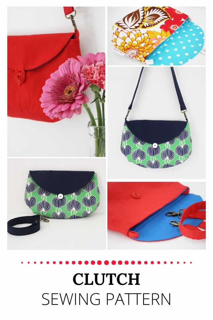 Clutch sewing pattern | Happy in Red