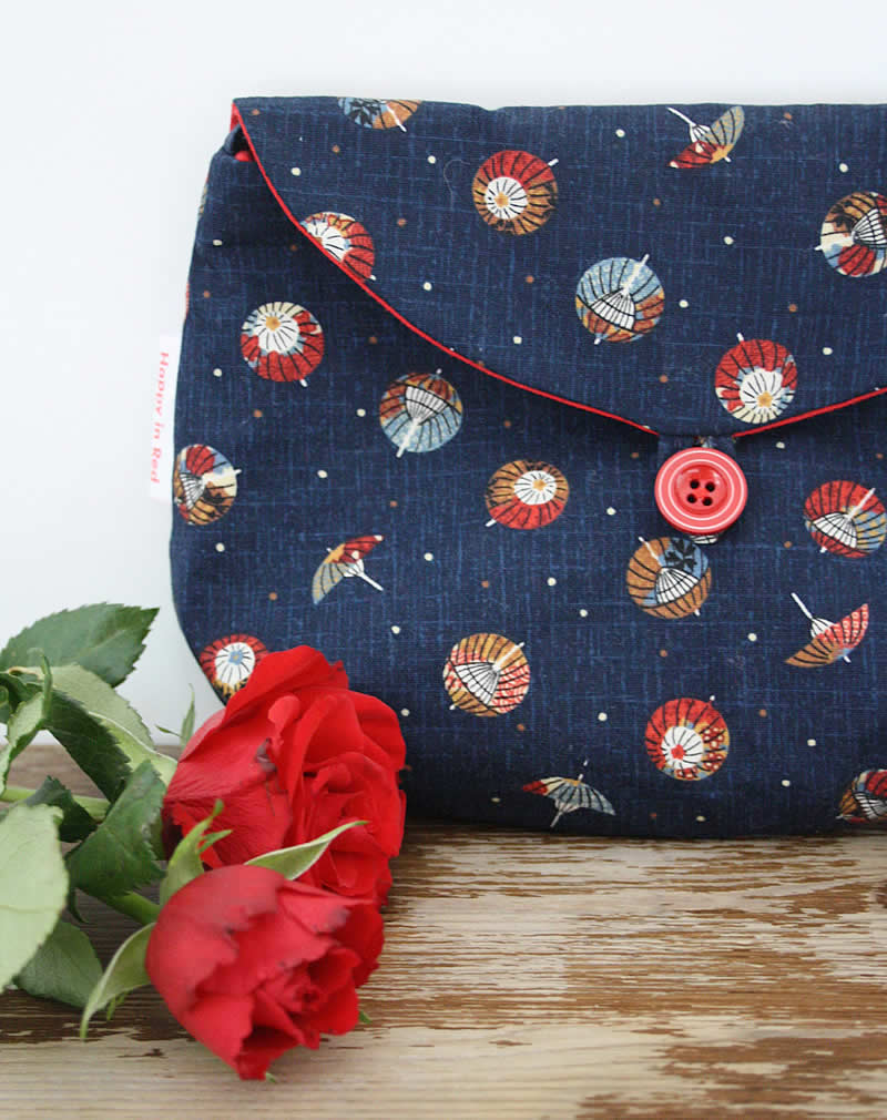 Clutch Sewing Pattern, Two Way Clutch Sewing Pattern | Happy in Red