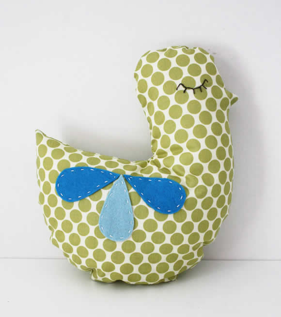 Vintage bird pillows | Happy in Red