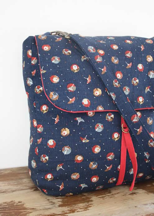 Messenger bag, handmade messenger bag by Happy in Red