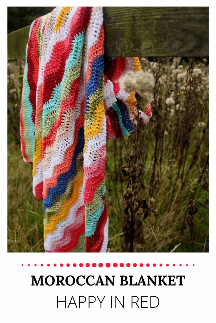 Moroccan blanket | Happy in Red | Marokkaanse deken