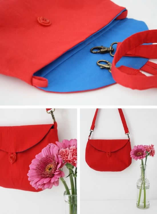 Clutch sewing pattern, the Two Way Clutch sewing pattern | Happy in Red