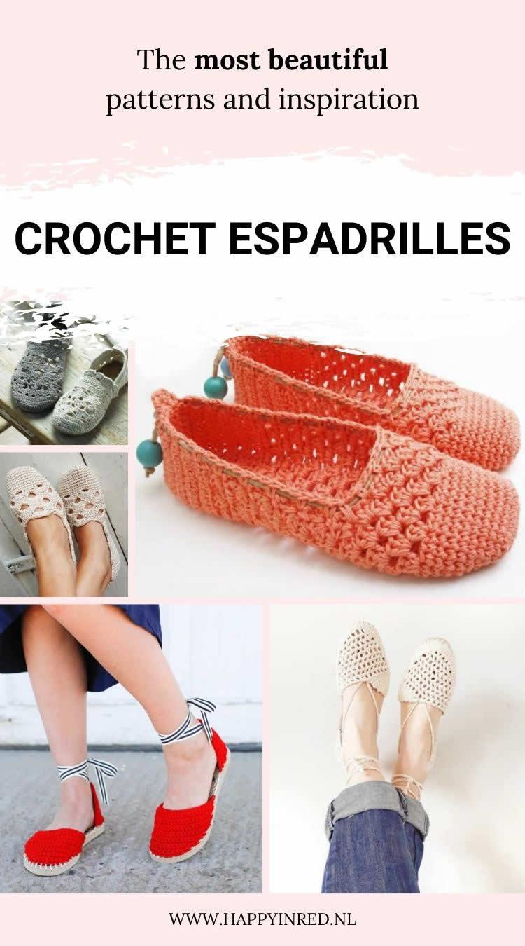 Crochet espadrilles, DIY espadrilles | Crochet inspiration by Happy in Red