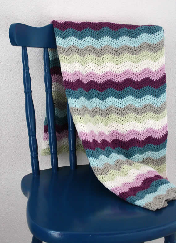 Crochet ripple blanket   Crochet ripple blanket by Happy in red