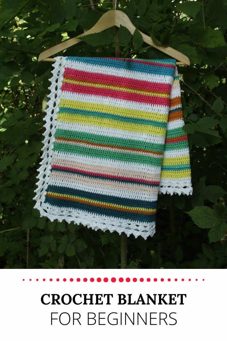 Crochet blanket for beginners | Baby blanket crochet beginner | Gehaakte deken voor beginners | Happy in Red