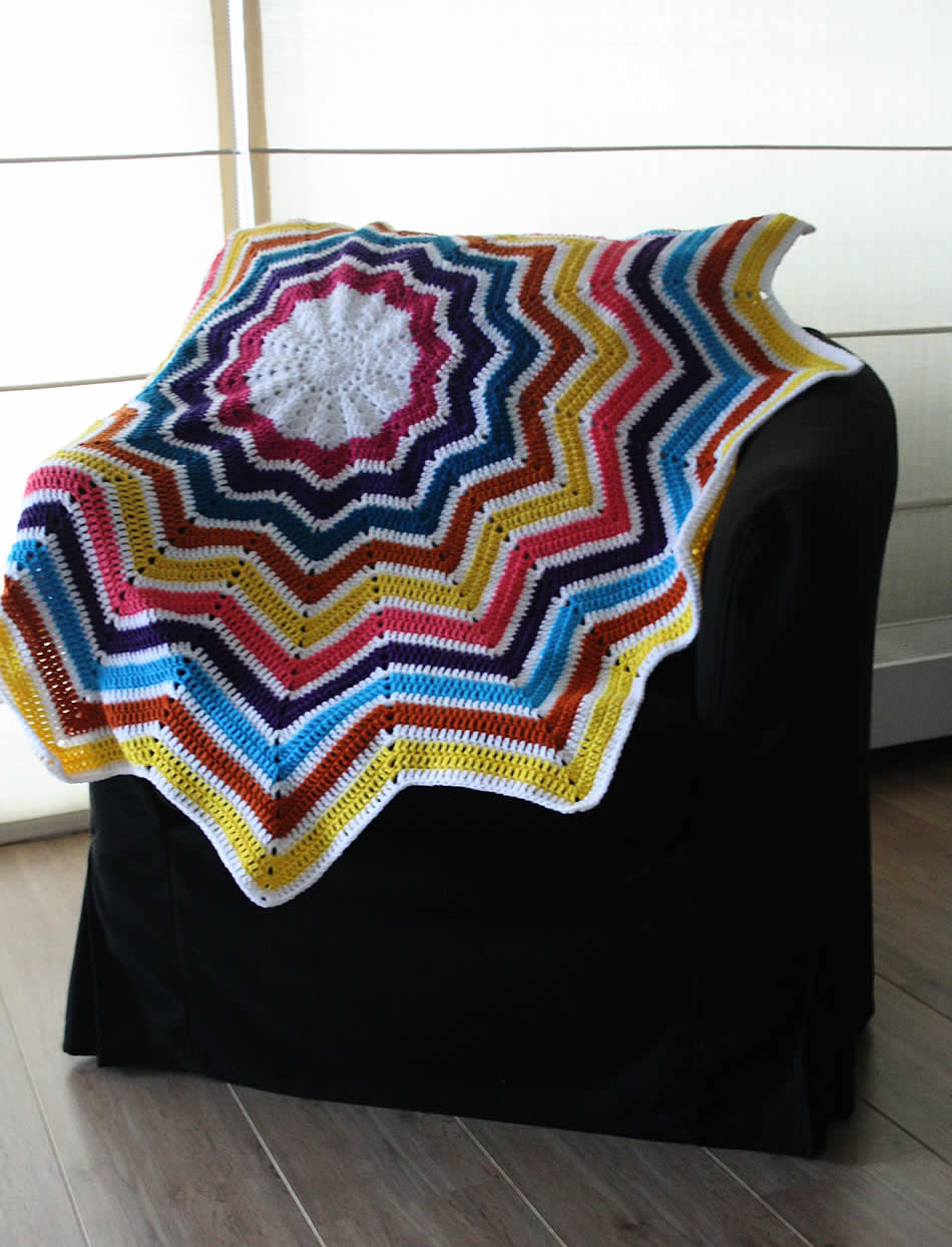 Crochet star blanket | Happy in Red | Gehaakte sterren deken