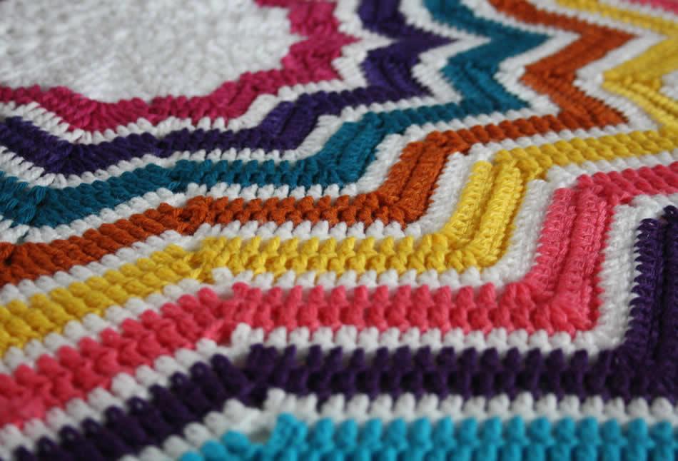 Crochet star blanket | Happy in Red | Gehaakte sterren deken
