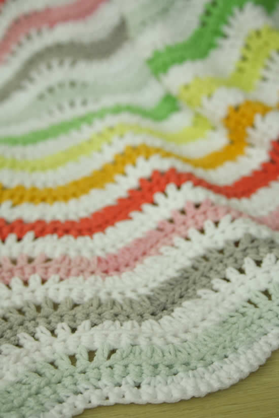 Woodland ripple | Crochet woodland ripple blanket | Happy in Red