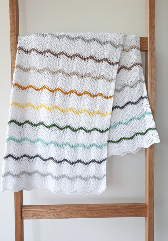 Crochet chevron blanket | Happy in Red