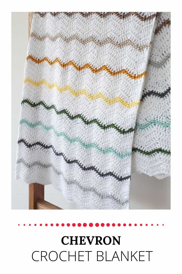 Crochet chevron blanket | Crochet chevron baby blanket | Happy in Red