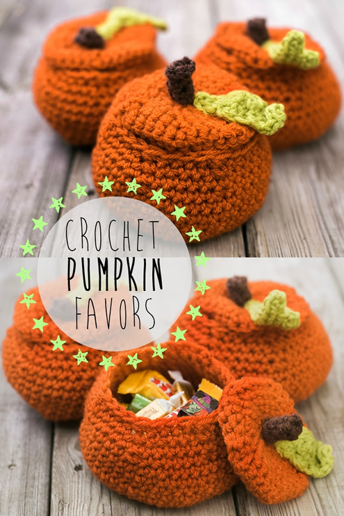 Crochet pumpikin favors (by Intimite Weddings) | Happy in Red
