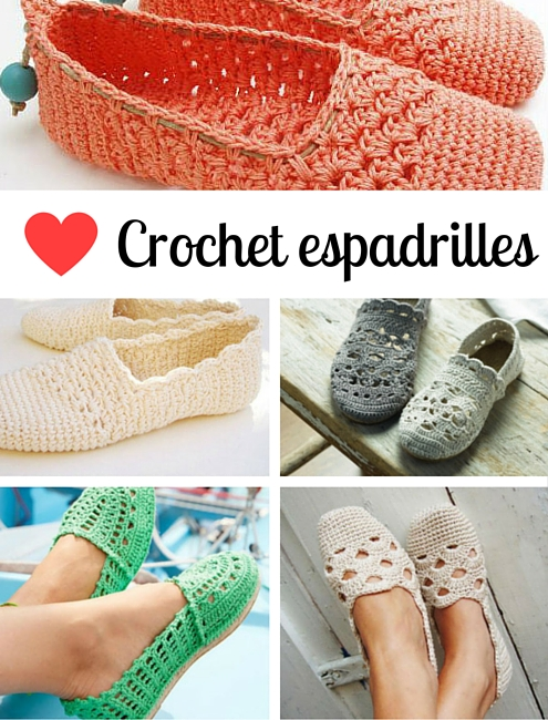 Crochet espadrilles, DIY espadrilles | Pattern inspiration by Happy in Red