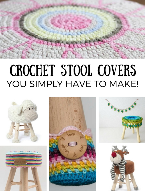 Crochet stool covers you simply have to make | Happy in Red