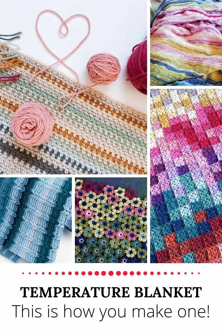 Start your crochet temperature blanket | How to make a crochet temperature blanket