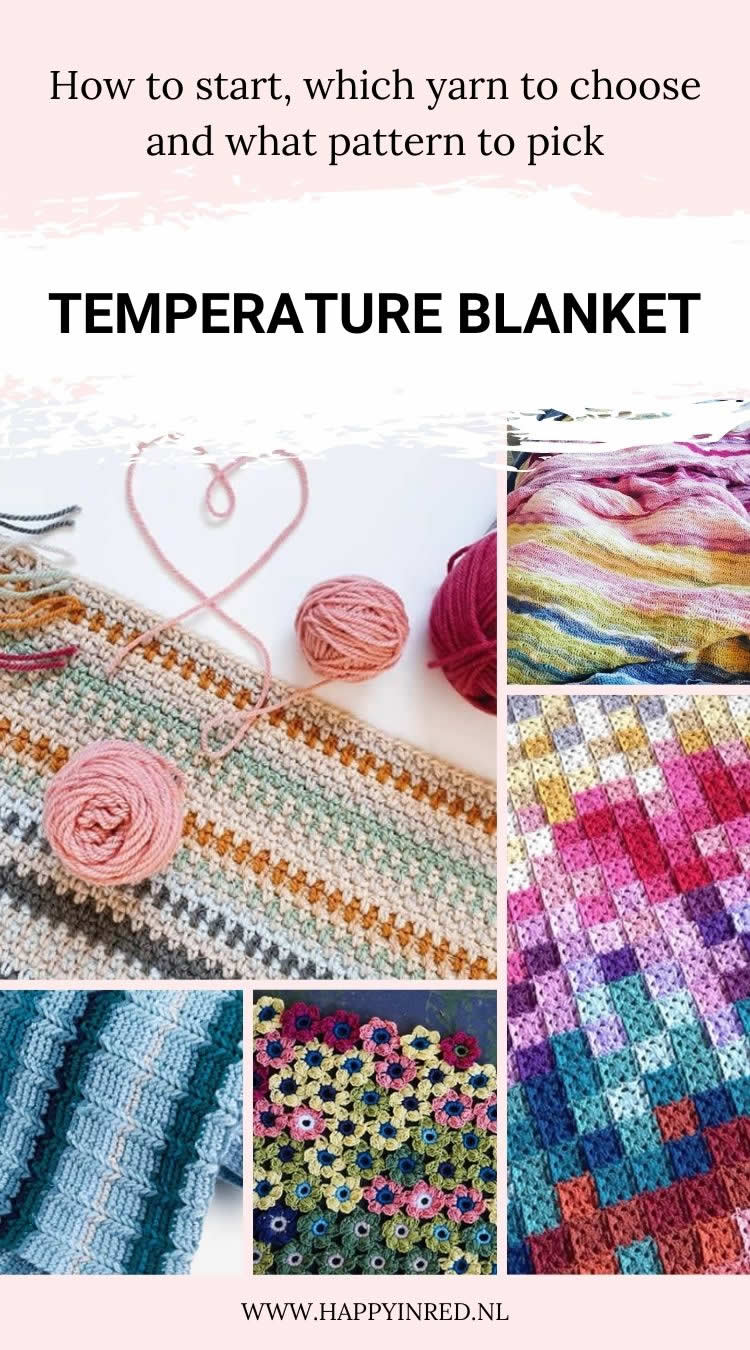 Start your crochet temperature blanket | How to make a crochet temperature blanket