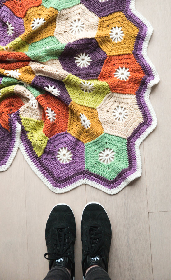 Crochet hexagon blanket | Crochet hexagon blanket, free pattern