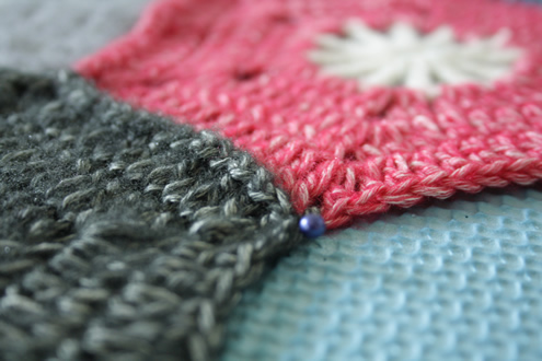 Wet block your crochet hexagon blanket | Happy in Red