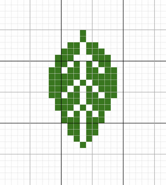 Cross stitch leaf pattern | Happy in Red