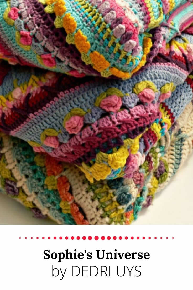 Sophie's Universe, crochet pattern and crochet along by Dedri Uys | Happy in Red
