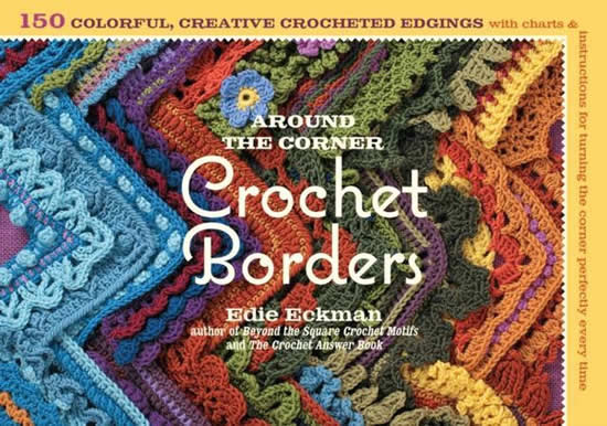 Around the corner, crochet borders by Edie Eckman | Happy in Red