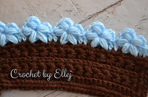 Puff stitch flower edge, by Ellej | Happy in Red
