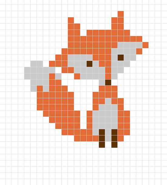 Cross stitch pattern fox (source: Sewrella) | Happy in Red