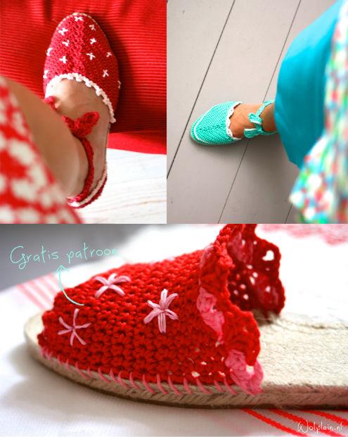 Crochet espadrilles by Saskia Laan | Happy in Red