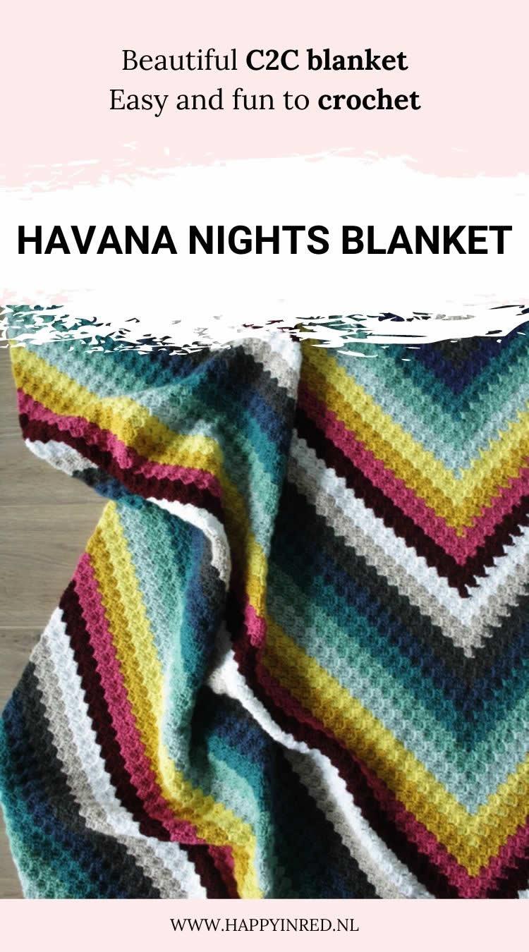 Havana Nights Blanket | C2C Blanket | Happy in Red