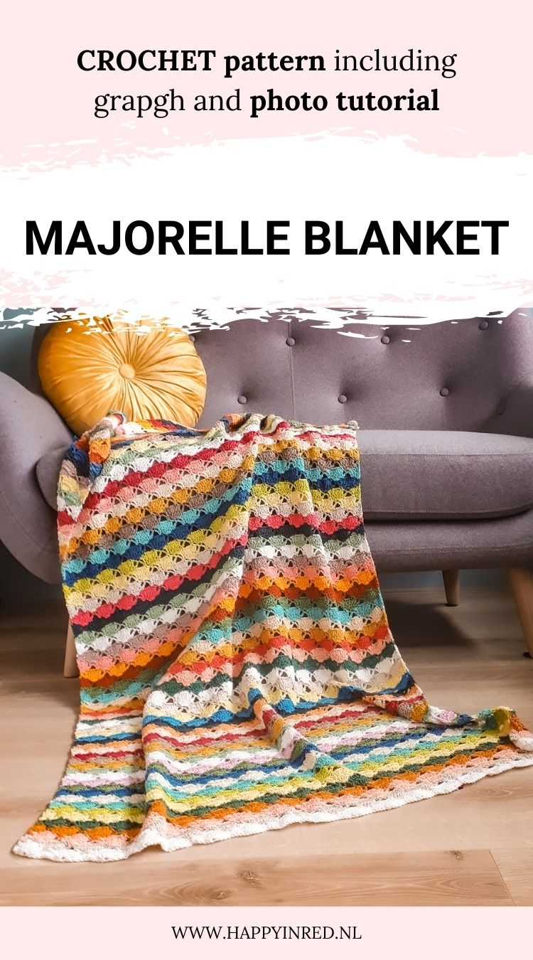 Majorelle Blanket, crochet scrap blanket | Crochet pattern by Happy in Red