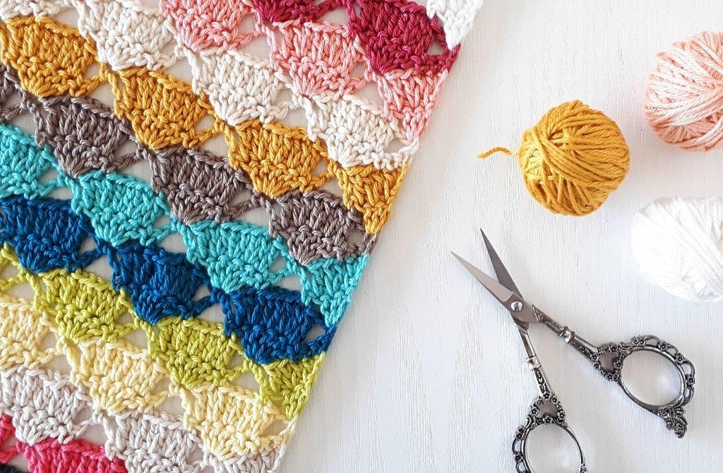 Crochet scrap blanket pattern, Majorelle Blanket | Happy in Red
