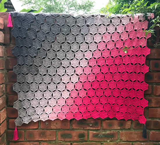 Hexa Whirl by Claire Norden | Happy in Red