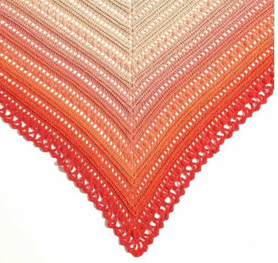 Scheepjes Whirl pattern, Secret Paths Shawl (Mijo Crochet) | Happy in Red