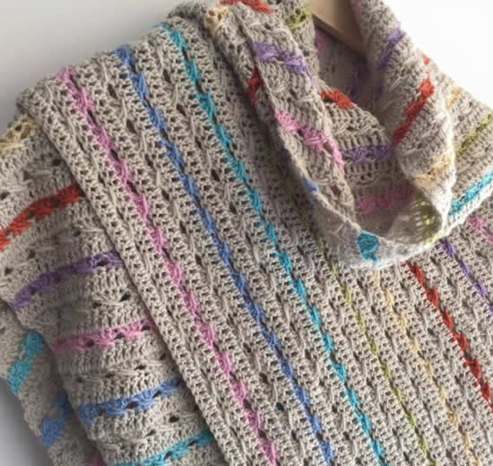 Crochet cable stitch   Crochet cable stitch shawl   Happy in Red