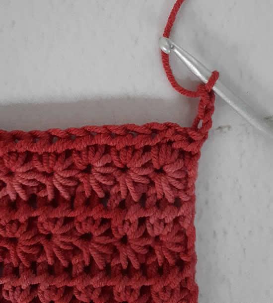 Crochet star stitch, crochet star stitch tutorial | Happy in Red