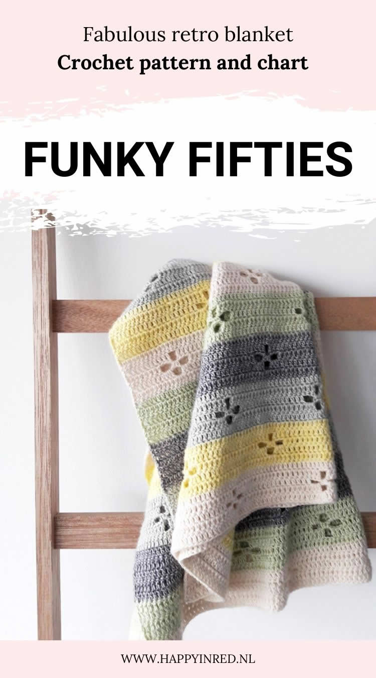 Funky Fifties Blanket (Call the midwife blanket) | Crochet pattern by Happy in Red
