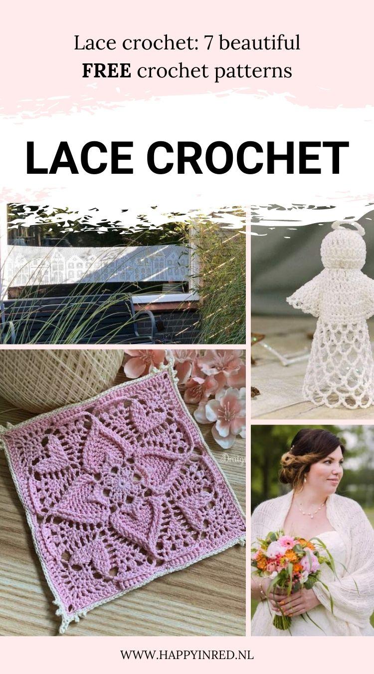 Lace crochet, free crochet patterns   Happy in Red