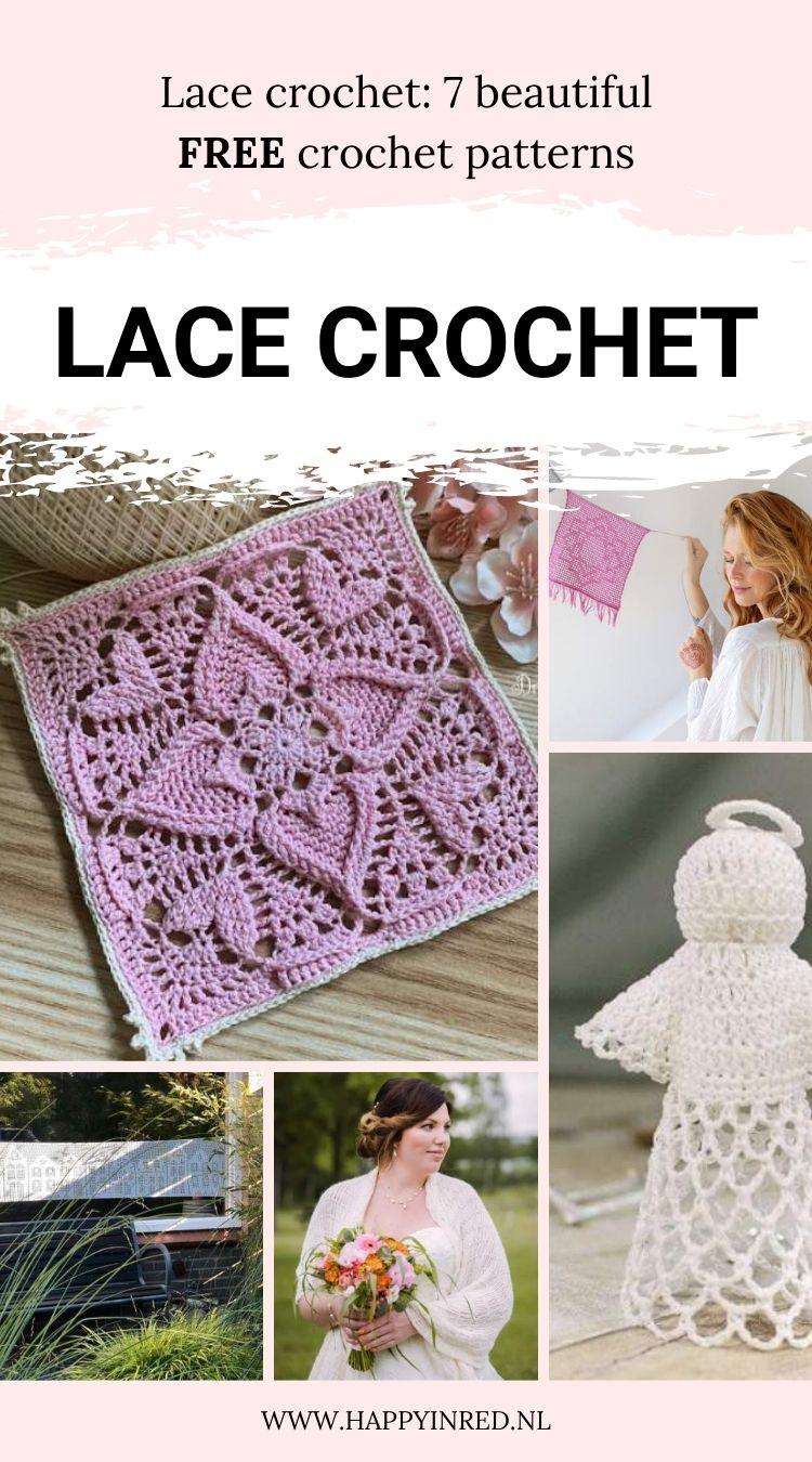 Lace crochet free patterns   lace crochet, free crochet patterns   Happy in Red